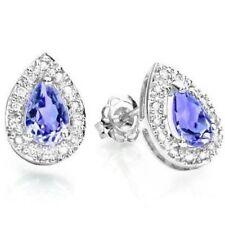 Ohrringe/Ohrstecker Jillian, 925er Silber, 0,63 Kt. echter Tansanit/Diamant