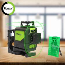 Huepar Rotary laser level Auto Leveling Measure Tool Green Cross 8 Lines