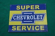 PLAQUE PUBLICITAIRE EN TOLE AGE D'OR AUTOMOBILE N°77 CHEVROLET SERVICE 22X28 CM