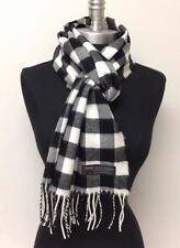 100% CASHMERE Scarf Plaid Solid SCOTLAND Wool Wrap SOFT High quality / Infinity