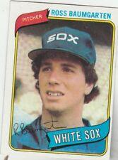 FREE SHIPPING-MINT-1980 Topps #138 Ross Baumgarten Chicago White Sox Baseball