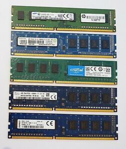 4GB DDR3L 1600MHz Desktop PC RAM ~~ PC3L 12800U Non-ECC Memory 1Rx8 1.35v DIMM