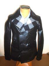 Belstaff Midhurst Leather Double Breasted Peacoat NWT 48 USA Medium $2695 Black