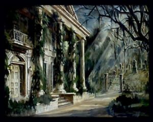 """NIGHT GALLERY """"The Cemetery"""" 4x6 Print Of 1969 TV Episode Painting Artwork"""