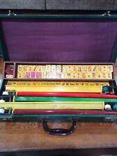 Vtg, ROYAL Mahjong Set 152 Bakelite Tiles 5 Swing-Back Catalin Racks Mah jongg