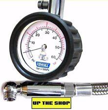 Venhill Tyre Pressure gauge 0-60psi /4bar rallycross, rally, motorcycle,van VT32