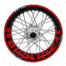 Supermoto Wunschtext - rot Felgenaufkleber Motorrad (KTM,Husaberg,Honda,450)