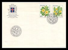 Iceland 1984 FDC, Flowers VI. Burnet Rose / Silver Weed. Lot # 2.