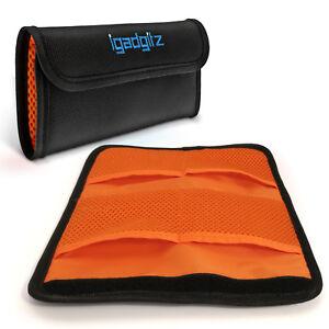 4 Pocket Bag Pouch Holder Storage Case for SLR DSLR Camera Lens Filters 43-77mm