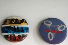 """Vintage Retro 1983 Police Synchronicity + Handcuffs 1"""" Pin Button Two Count Lot"""