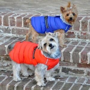 Alpine Extreme Weather Puffer Dog Coat - Orange  XS-5XL