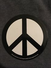 ROUND BLACK AND WHITE PEACE SYMBOL MAGNET