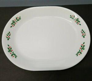 "Corelle/Corning Christmas ""Winter Holly"" 12"" Oval Serving Platter"