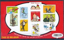 TIMBRE STAMP ZEGEL BELGIQUE BL201 THIS IS BELGIUM BANDE DESSINEE +NON DENTELE XX