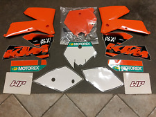 06 KTM 250SX RADIATOR SHROUDS, FRONT NUMBER PLATE AND GRAPHICS KIT