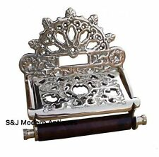 Toilet Roll Holder Chrome Vintage Victorian Unusual Retro Silver Novelty Ornate