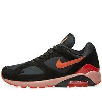 Nike Air Max 180 Women ® ( UK Size 4 EUR 36.5 ) Black / Team Orange Latest NEW