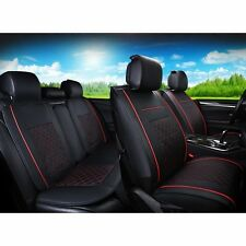 Four Season Front Rear Car Seat Covers Neck Lumber Pillows Leather Anti-static
