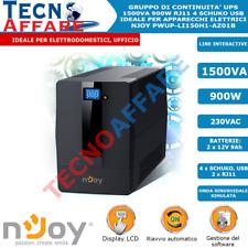 Gruppo di Continuità UPS 1500VA 900W Line Interactive PC DVR Server Njoy Horus+