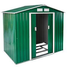 Cobertizo caseta de jardín metálica metal invernadero almacén 214x130+ fundación