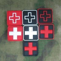 """BuckUp Tactical Morale Patch Hook Medic Cross PVC Patches 1"""""""