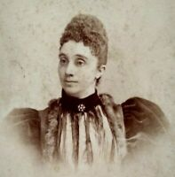 1880s Mary Neal Philadelphia Woman Portrait Antique Cabinet Card Photo