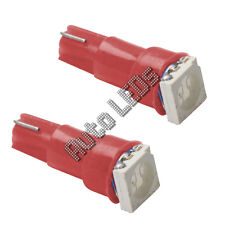 Red 5050 SMD LED T5 Wedge 12v Interior LED Bulb