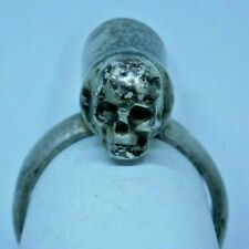 Unique Ring with Secret tool Skull Measure for powder Medicine? Sterling Silver
