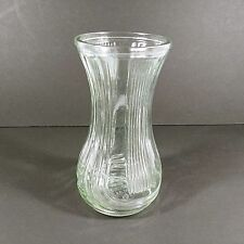 Hoosier Glass Vase Clear Ribbed 4086-B USA Made