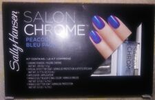 New Sally Hansen Lim Ed Salon Chrome 5PC Kit Miracle Gel Nail Polish - PEACOCK