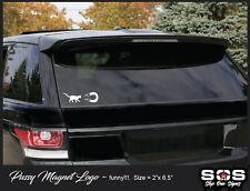 Pussy Magnet Logo Funny Sex window lettering windshield graphics vinyl decals