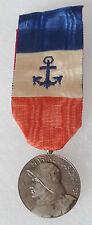 Médaille d'Honneur Marine Marchande ARGENT par LINDAUER ORIGINAL French medal