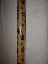 PAWPRINT PAW PRINT DOG CAT BROWN CRAFT KRAFT GIFT WRAP WRAPPING PAPER 25 SQ. FT.