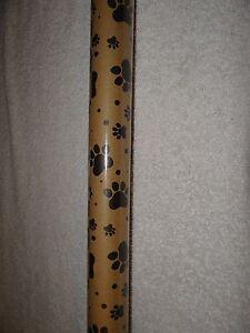 PAWPRINT PAW PRINT DOG CAT BROWN CRAFT KRAFT GIFT WRAP WRAPPING PAPER 20 SQ. FT.