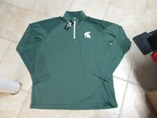 MICHIGAN STATE SPARTANS (CHAMPION BRAND) 1/4 ZIP TOP, SIZE (XXL) NWT GREEN GREAT