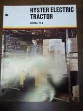 Hyster Lift Truck Brochure~Electric T5A Tractor~Features Catalog Insert 1975