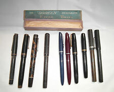 VINTAGE FOUNTAIN PENS 10, IN TOTAL 4 WITH 14,K NIBS SPAIRS/ REPAIR