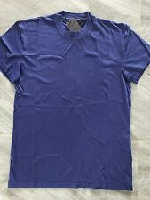 Authentic Mens Prada Classic Royal Blue Round Neck Cotton Jersey T-Shirt XXL