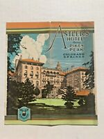 1920's Antlers Hotel Facing Pikes Peak Colorado Springs Travel Brochure