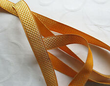 Vintage Gold Metallic Vestment Trim Repeating Block Design  French