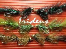 Irideus Articulated Mix Hackle Wooly Bugger Streamer flies Trout Fly Fishing