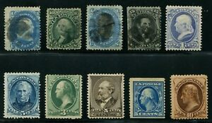 USA classic selection (10) mint or used all with certificates Scott $2,225