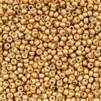 Miyuki Size 8/0 Seed Beads Duracoat Galvanised Gold 22g (R13/2)