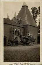 Ledbury. Hop Kiln. Hops Being Taken in for Drying by Tilley & Son.