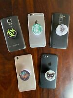New 2020 Glossy PopSocket Cell Phone Collapsible Grip Stand for Phones Tablets