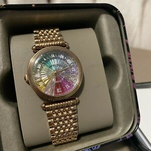 Fossil Rose Gold Stainless Steel Rainbow Women's Watch LE1070 Limited Edition