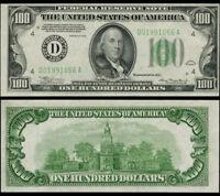 FR. 2152 D $100 1934 Federal Reserve Note Non-Mule Cleveland DGS Nice CU