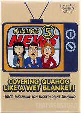 Family Guy Quahog 5 News Covering Quahog Like A Wet Blanket Magnet ~ Licensed