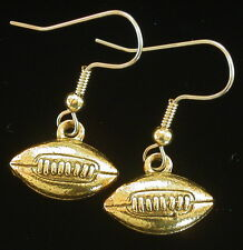 Football Earrings 24 karat Gold Plate Sports Footballs