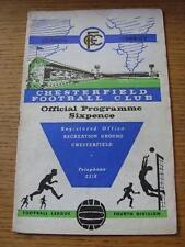 04/02/1967 Chesterfield V Southport (froissées, Rusty discontinues, Score à l'intérieur). Objet